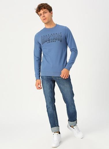 Mustang Sweatshirt Mavi